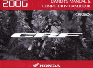 Official 2006 Honda CRF250X Factory Owners Manual