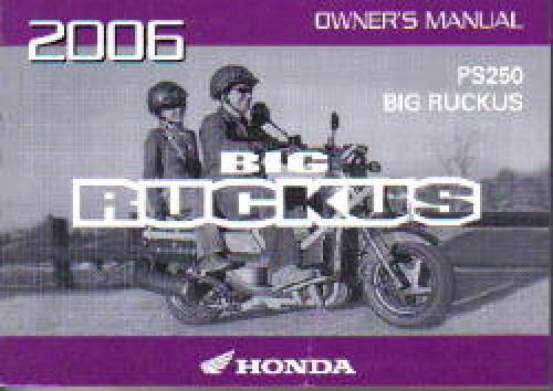 Detalles Acerca De 2006 Honda PS250 Big Ruckus Scooter Manual Del Propietario 31KTB610 Mostrar T Tulo Original