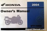 Official 2004 Honda VT1100C Shadow Spirit Factory Owners Manual