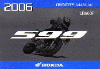 Official 2006 Honda CB600F Factory Owners Manual