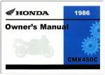 Official 1986 Honda CMX450C Rebel Owner Manual