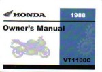 Official 1988 Honda VT1100C Shadow Owner Manual