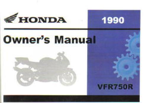 1990 honda vfr750r rc30 motorcycle owners manual rh repairmanual com 1990 honda crx owners manual 1990 honda crx owners manual