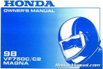Official 1998 Honda VF750C C2 Magna Factory Owners Manual