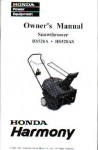 Official Honda HS520A HS520AS Snowthrower Owners Manual