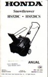Official Honda HS520AS Snowthrower Factory Owners Manual