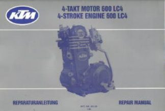 Official 1988-1990 KTM Factory 600 Engine Service Manual