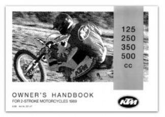 Official 1989 KTM 350MX KTM 350 Enduro Owners Manual