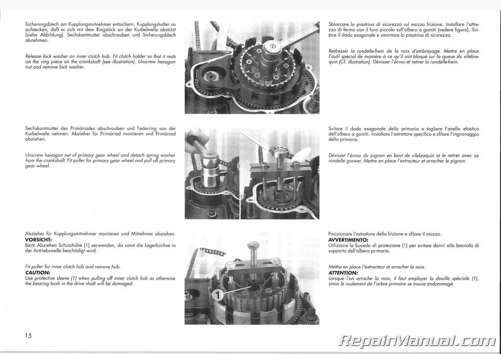 1991 1992 Ktm 500 600 Lc4 Engine Manual