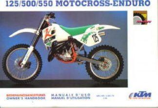 Official 1992 KTM 125 500 550 Motocross Enduro Owners Handbook
