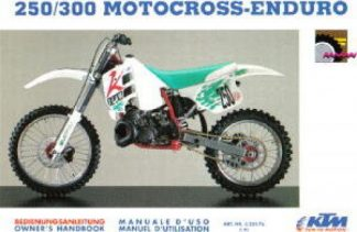Official 1992 KTM 250 300 Motocross Enduro Owners Handbook