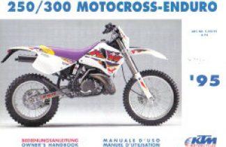 Official 1995 KTM 250 300 Motocross Enduro Owners Handbook
