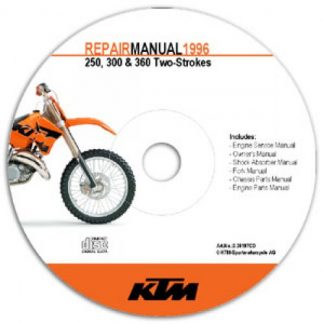 Official 1996-1997 KTM 250 300 360 Repair Manuals on CD-ROM