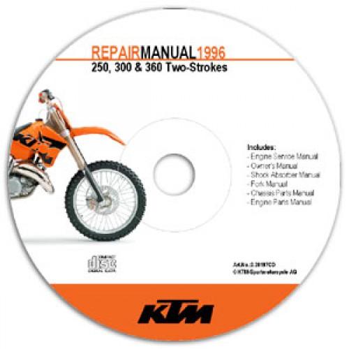 ktm manuals on cd rom 1996 1997 250 300 360 rh repairmanual com sega cd repair manual cd repair manual toyota