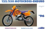 Official 1996 KTM 125 550 Owners Handbook