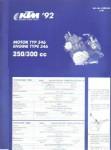 Official 1992 KTM 250 300cc 546 Engine Spare Parts Poster