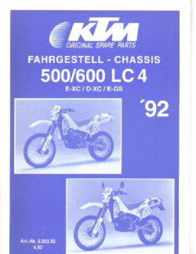 1992 ktm 500 600 lc4 exc dxc egs chassis spare parts manual. Black Bedroom Furniture Sets. Home Design Ideas