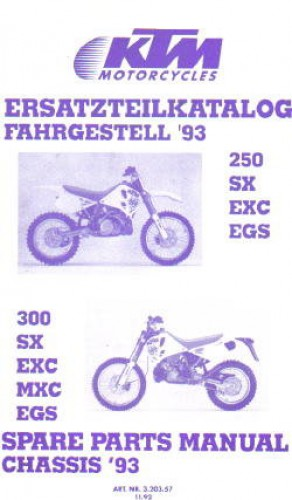 1993 ktm 250 sx exc egs 300 sx exc mxc egs chassis spare. Black Bedroom Furniture Sets. Home Design Ideas