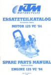 Official 1994 KTM 125 Engine Spare Parts Manual