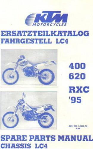1995 ktm 400 620 rxc chassis spare parts manual. Black Bedroom Furniture Sets. Home Design Ideas