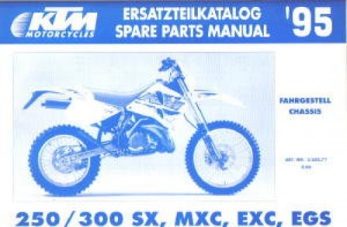 1995 ktm 250 300 sx mxc exc egs chassis spare parts manual. Black Bedroom Furniture Sets. Home Design Ideas