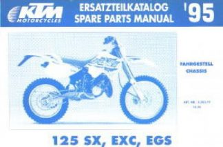 Official 1995 KTM 125 SX EXC EGS Chassis Spare Parts Manual