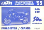 Official 1995 KTM 400 620 Duke Chassis Spare Parts Manual