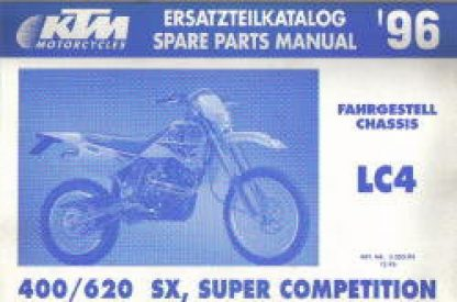 Official 1996 KTM 400 620 SX Super Competition LC4 Chassis Spare Parts Poster