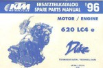 Official 1996 KTM 400 620 LC4 Engine Spare Parts Manual
