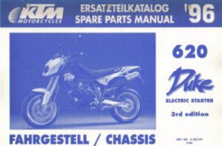 Official 2003 KTM 640 LC4 Enduro 640 LC4 Supermoto Chassis Spare Parts Manual