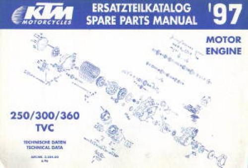 1997 ktm 250 300 360 motorcycle engine spare parts manual. Black Bedroom Furniture Sets. Home Design Ideas