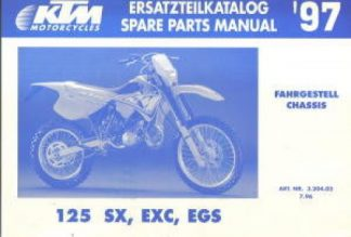 Official 1997 KTM 125 SX EXC EGS Chassis Spare Parts Manual
