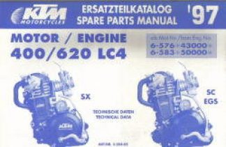 Official 1997 KTM 400 620 LC4 Engine Spare Parts Manual