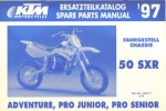 Official 1997 KTM 50 SRX Adventure Pro Junior Pro Senior Chassis Spare Parts Manual