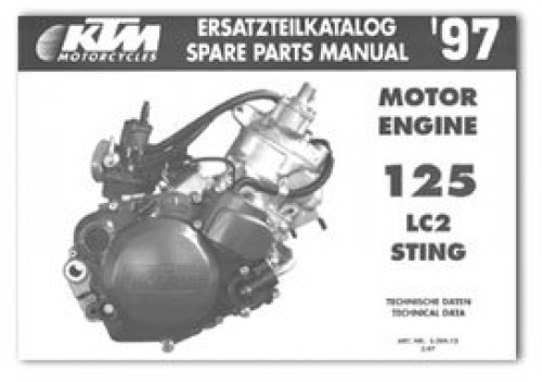 1997 ktm 125 lc2 sting engine spare parts manual repair manuals official 1997 ktm 125 lc2 sting factory engine spare parts manual