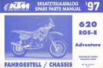 Official 1997 KTM 620 EGS-E Adventure Chassis Spare Parts Manual