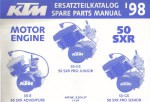 Official 1998 KTM 50 SXR Engine Spare Parts Manual