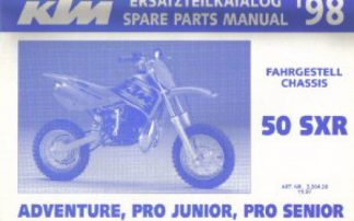 Official 1998 KTM 50 SXR Chassis Spare Parts Manual