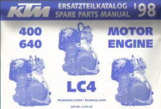 Official 1998 KTM 400 640 LC4 Engine Spare Parts Manual