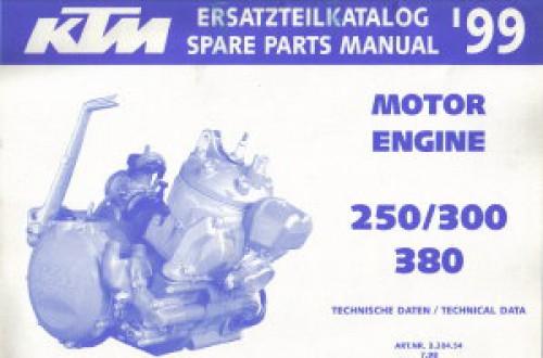 1999 ktm 250 300 380 engine spare parts manual. Black Bedroom Furniture Sets. Home Design Ideas