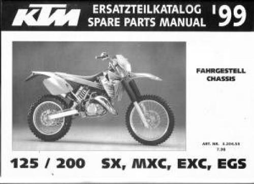 ktm 200 sx factory service repair manuals   straight