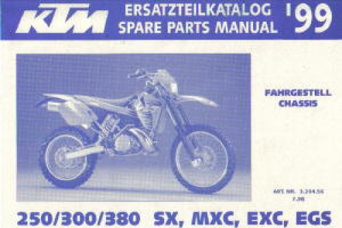 1999 ktm 250 300 380 sx mxc exc egs chassis spare parts manual. Black Bedroom Furniture Sets. Home Design Ideas