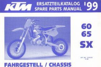 Official 1999 KTM 60 65 SX Chassis Spare Parts Manual