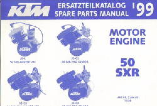 Official 1999 KTM 50 SXR Engine Spare Parts Manual