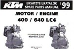 Official 1999 KTM 400 640 LC4 Engine Spare Parts Manual