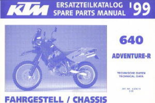 320474 1999 KTM 640 Adventure R Chassis Spare Parts Manual