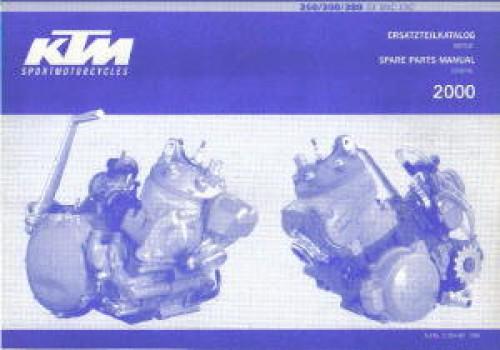2000 ktm 250 300 380 sx mxc exc engine spare parts manual. Black Bedroom Furniture Sets. Home Design Ideas