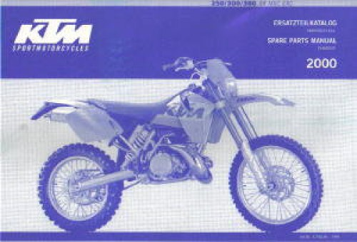 2000 ktm 250 300 380 sx mxc exc chassis spare parts manual. Black Bedroom Furniture Sets. Home Design Ideas