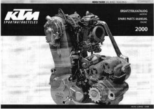 Ktm 250 400 450 520 525 sx mxc exc racing repair service manual 00.