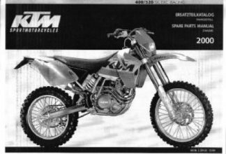 Official 2000 KTM 400 520 SX EXC Chassis Spare Parts Poster